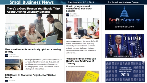 Small Business News 3.29.16