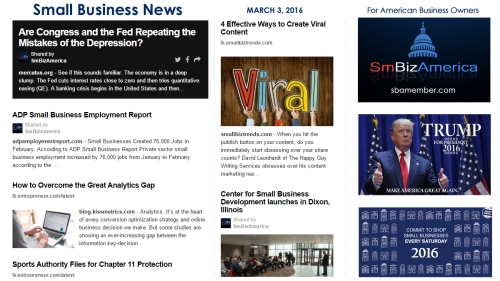 Small Business News 3.3.16