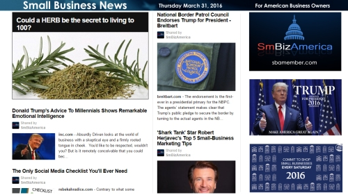 Small Business News 3.31.16