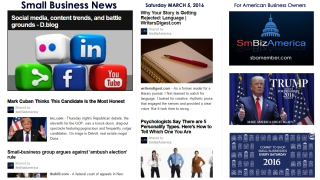 Small Business News 3.5.16 SmBizAmerica