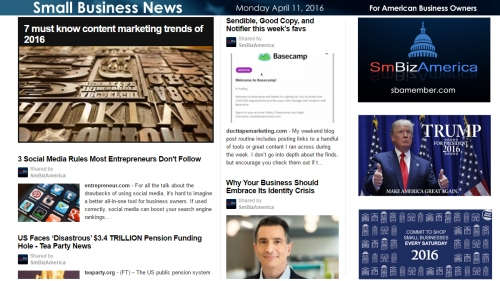 Small Business News 4.11.16