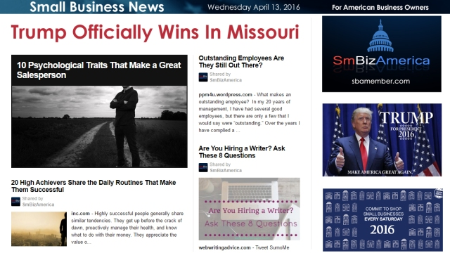 Small Business News 4.13.16