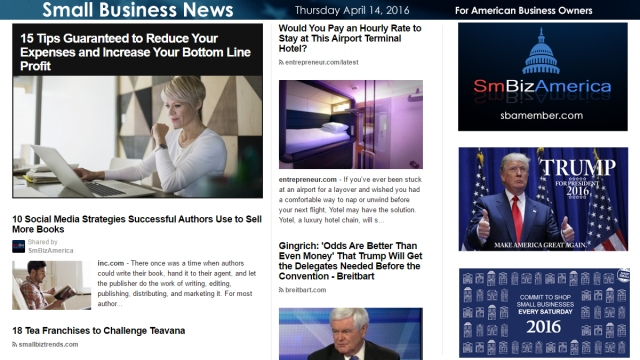 Small Business News 4.14.2016