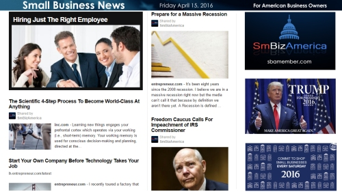 Small Business News 4.15.16