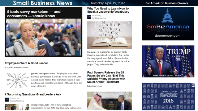 Small Business News 4.19.16