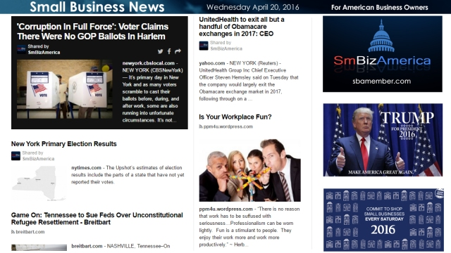 Small Business News 4.20.16
