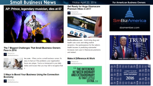 Small Business News 4.22.16