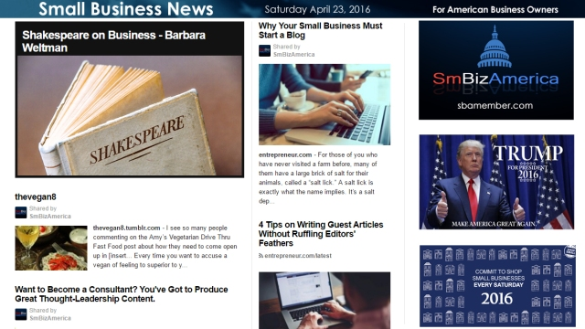 Small Business News 4.23.16