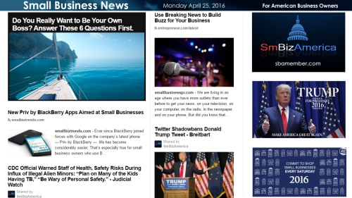 Small Business News 4.25.16