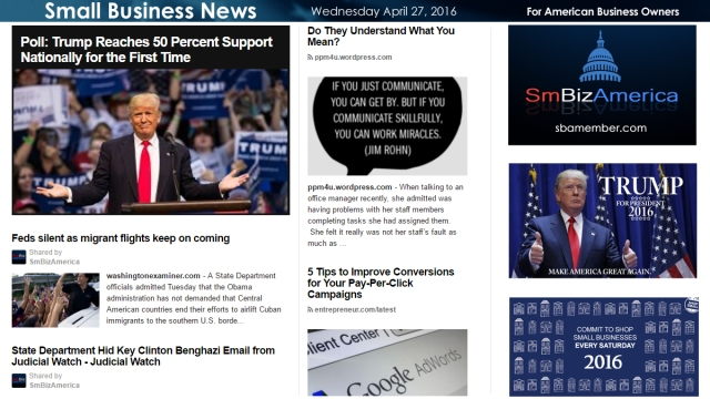 Small Business News 4.27.16