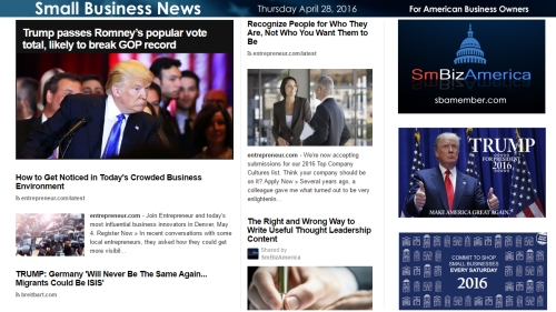 Small Business News 4.28.16