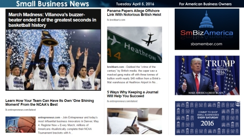 Small Business News 4.5.16