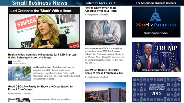 Small Business News 4.9.16