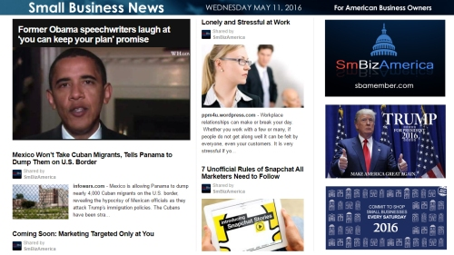 Small Business News 5.11.16