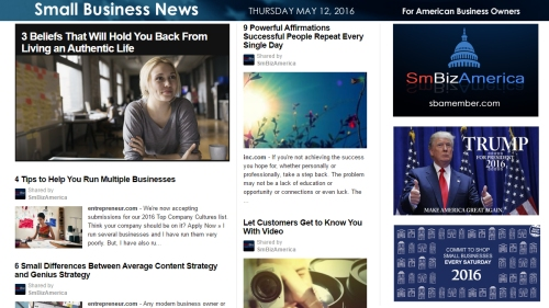 Small Business News 5.12.16