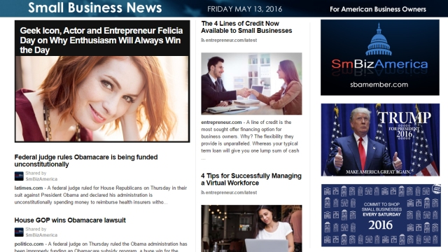 Small Business News 5.13.16