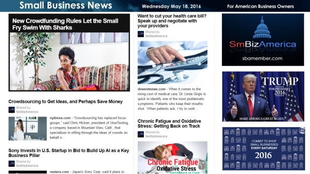 Small Business News 5.18.16