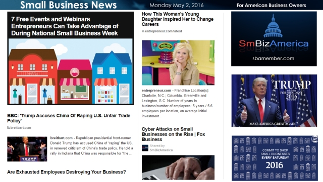 Small Business News 5.2.16