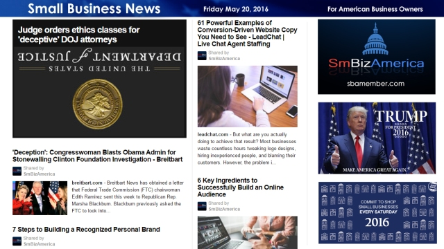 Small Business News 5.20.16
