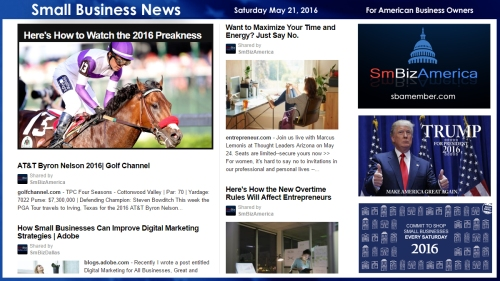 Small Business News 5.21.16