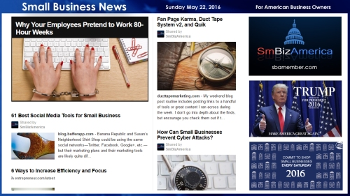 Small Business News 5.22.16