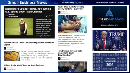 Small Business News 5.23.16