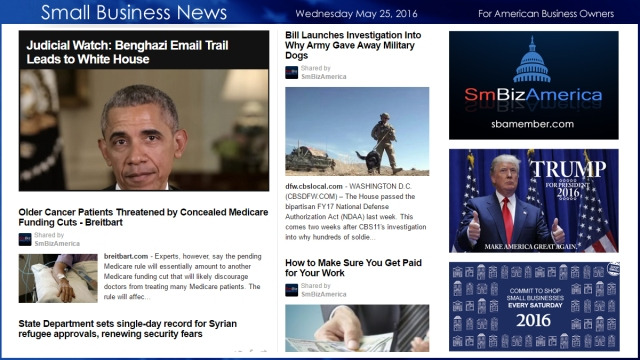 Small Business News 5.25.16