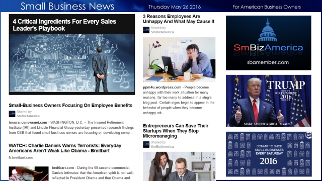 Small Business News 5.26.16