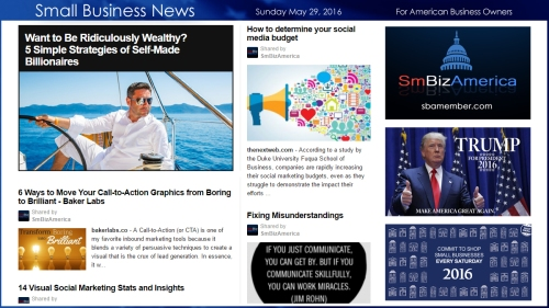 Small Business News 5.29.16