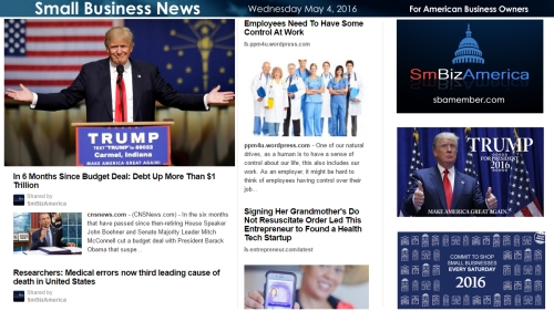 Small Business News 5.4.16