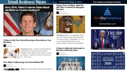 Small Business News 5.5.16