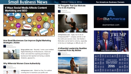 Small Business News 5.6.16