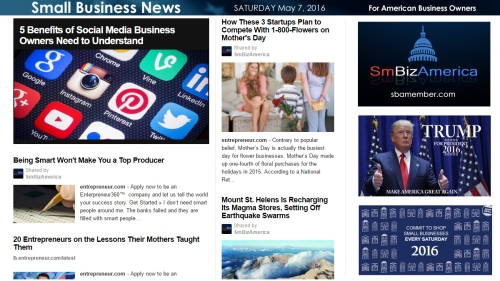 Small Business News 5.7.16