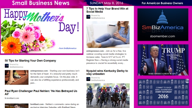 Small Business News MOTHERS DAY