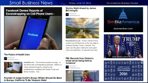 Small Business News 6.10.16