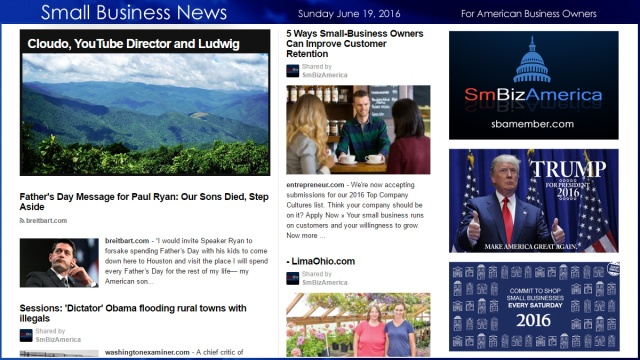 Small Business News 6.19.16 Fathers Day 2016