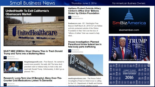 Small Business News 6.2.16