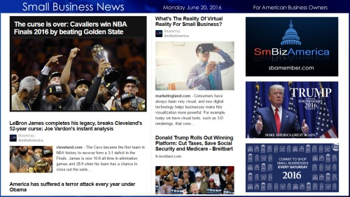 Small Business News 6.20.16