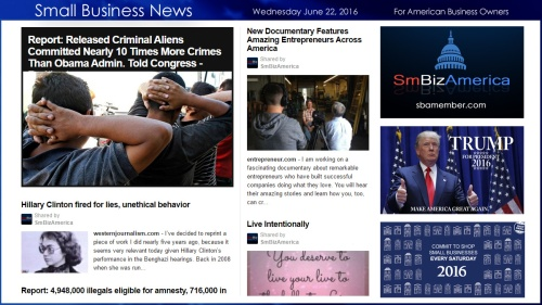 Small Business News 6.22.16 SmBizAmerica