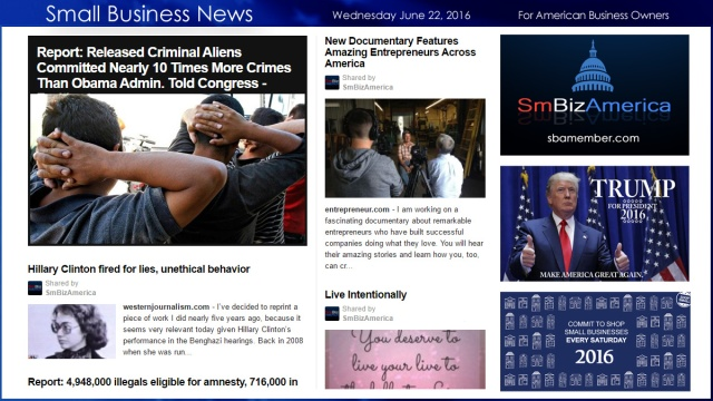 Small Business News 6.22.16 SmBizAmerica