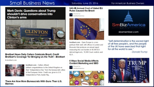 Small Business News 6.25.16 #smallbusiness