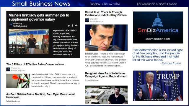 Small Business News 6.26.16