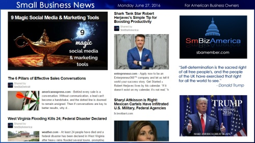 Small Business News 6.27.16