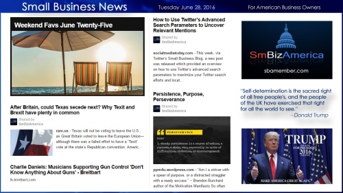 Small Business News 6.28.16