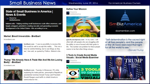 Small Business News 6.29.16