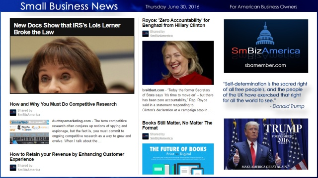 Small Business News 6.30.16