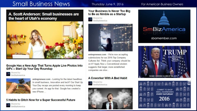 Small Business News 6.9.16