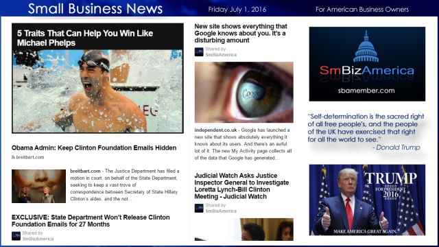 Small Business News 7.1.16