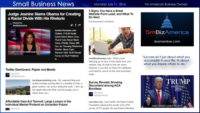 Small Business News 7.11.16