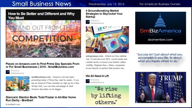 Small Business News 7.13.16
